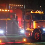 trucks lit up
